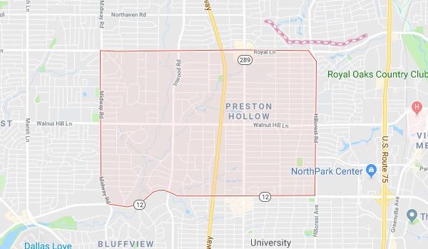 Preston Hollow area